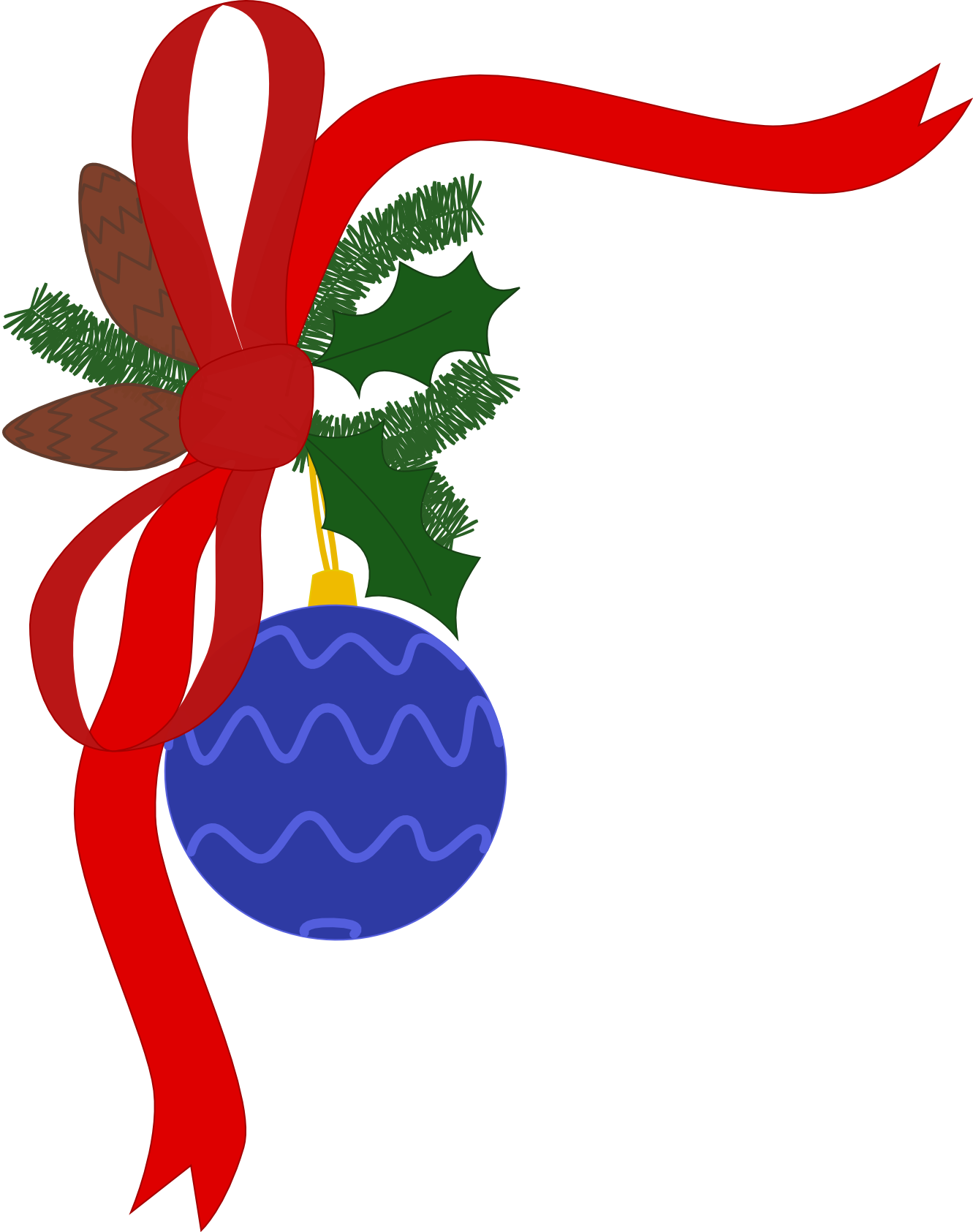 1331x1685 Free Clipart Holiday Decorations