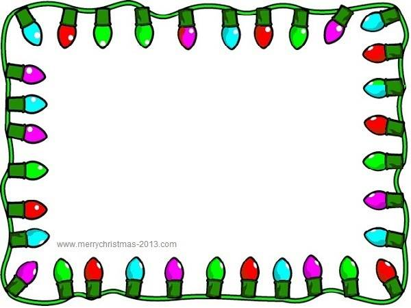 600x450 Holiday Lights Clipart Border Free