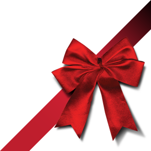 300x300 Christmas Red Ribbon Clipart