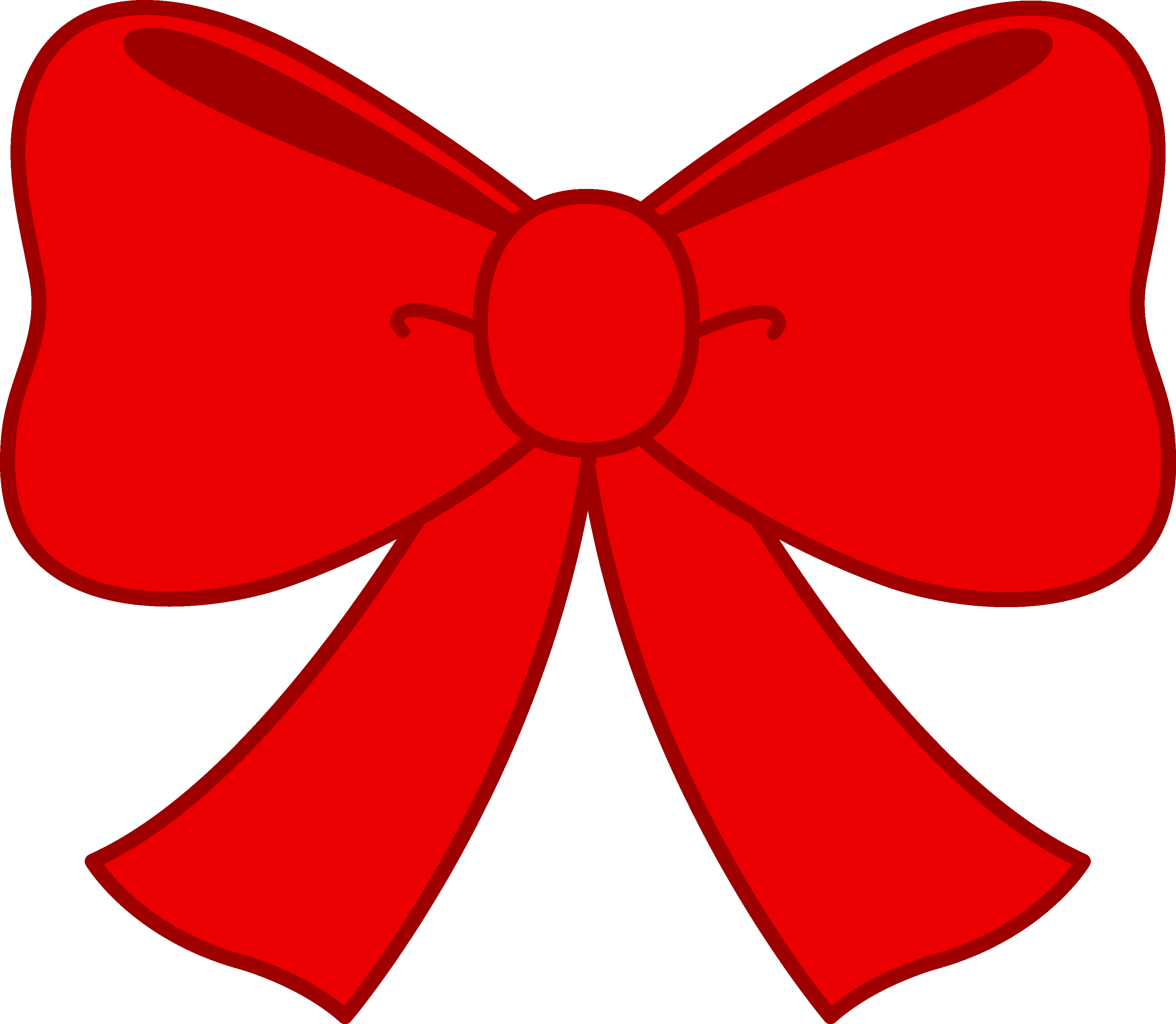 3596x3132 Cute Red Bow Clipart