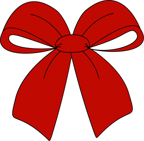500x489 Red Christmas Bow Clipart