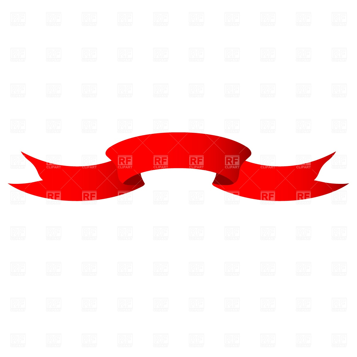 1200x1200 Red Ribbon Free Vector Clip Art Image