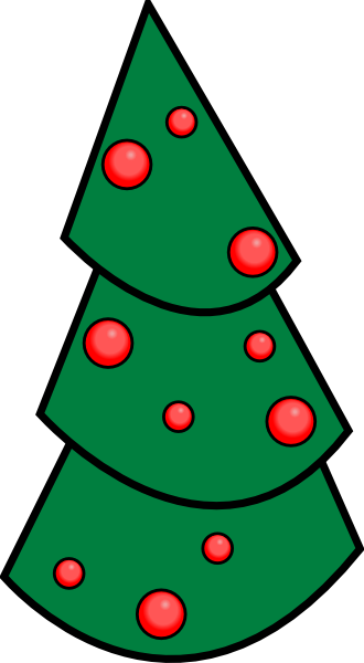 330x600 Holiday Tree Clip Art