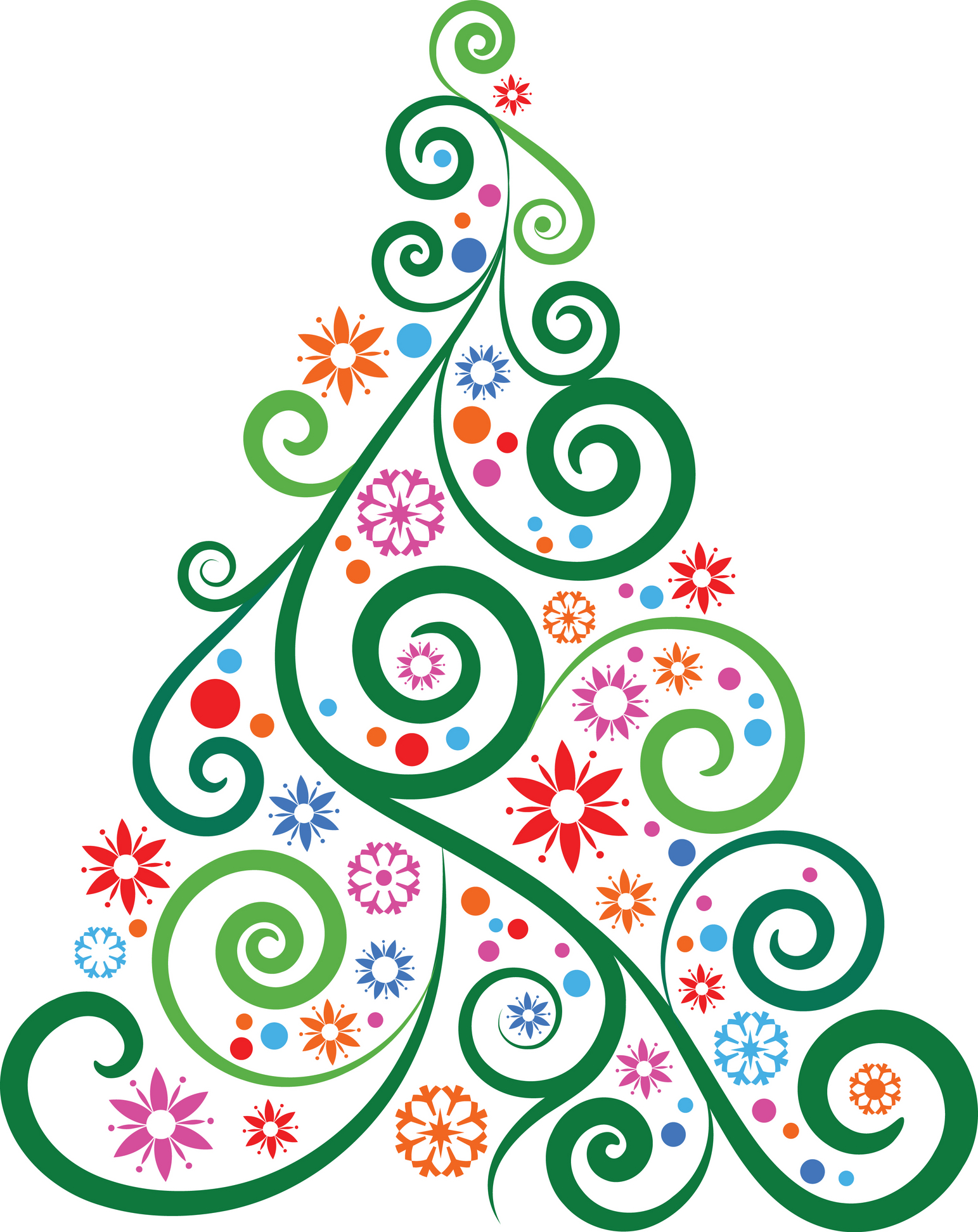 1543x1943 Modern Christmas Tree Clip Art