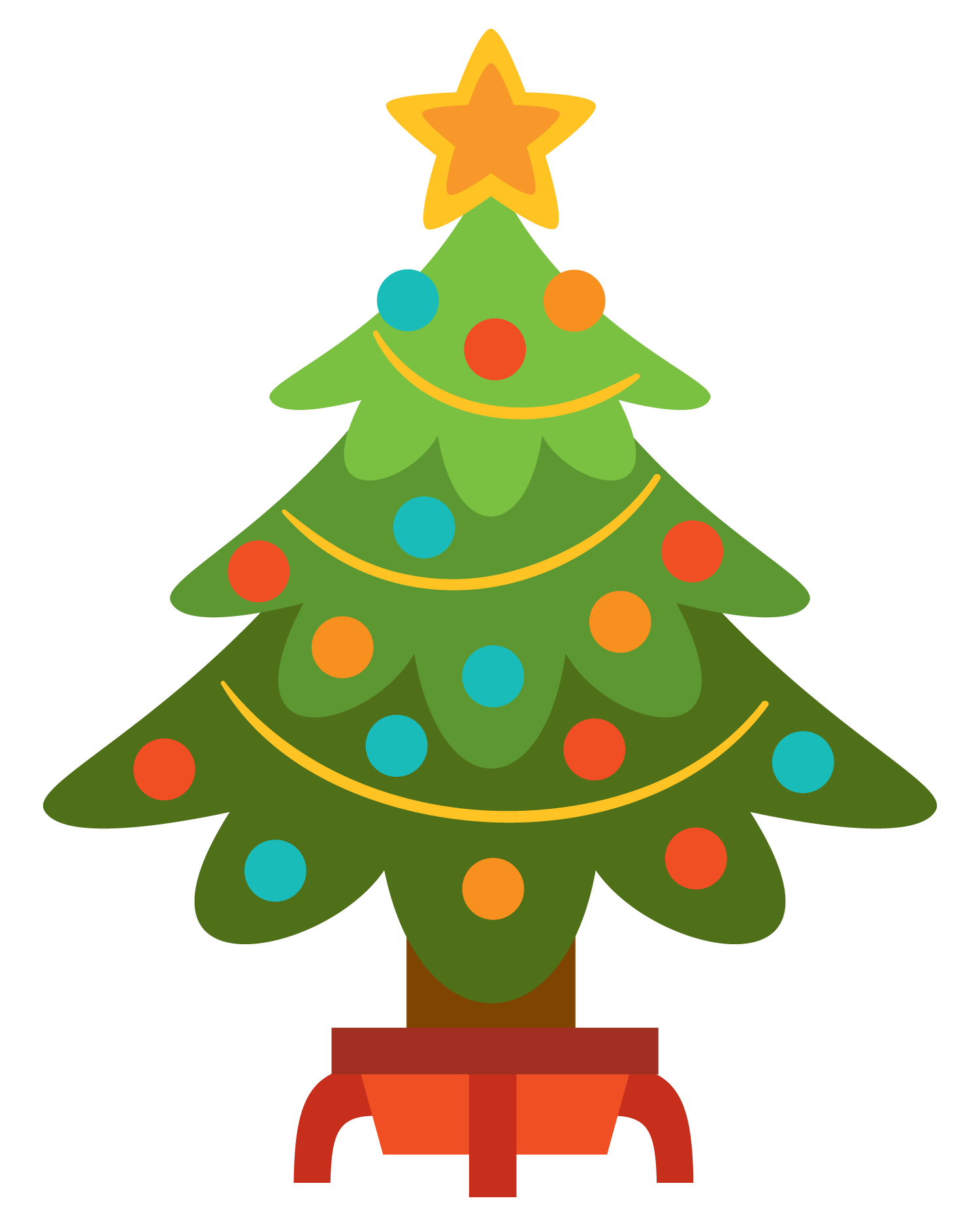1500x1875 Unique Christmas Tree Clipart Kid