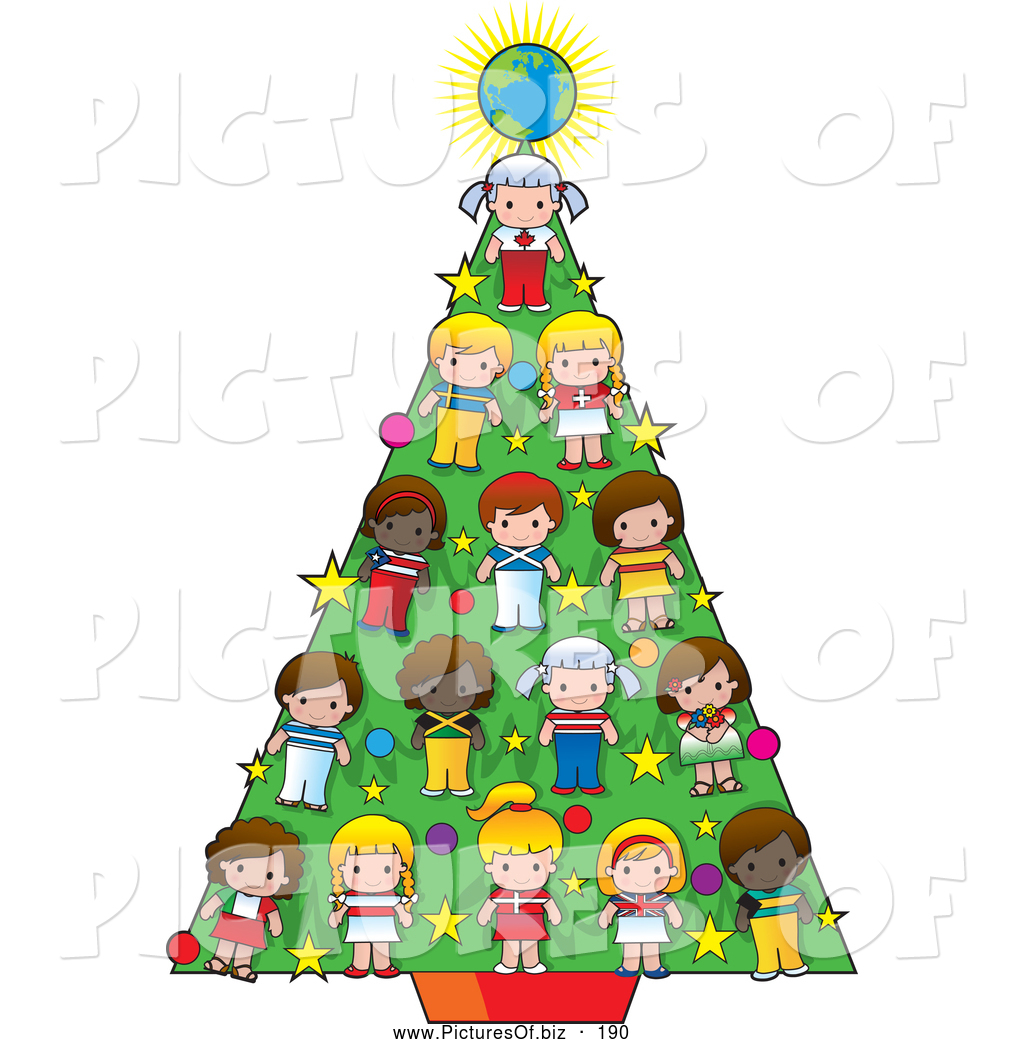 1024x1044 Vector Clipart Of Cultural Childrennd Globe Decrating