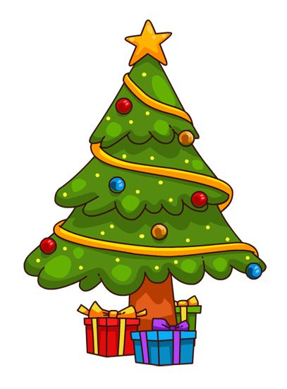 407x551 Best Cartoon Christmas Tree Ideas Christmas