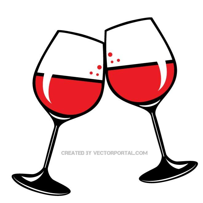 660x660 Glasses Of Red Wine Vector Clip Art. Food And Drink Vectors
