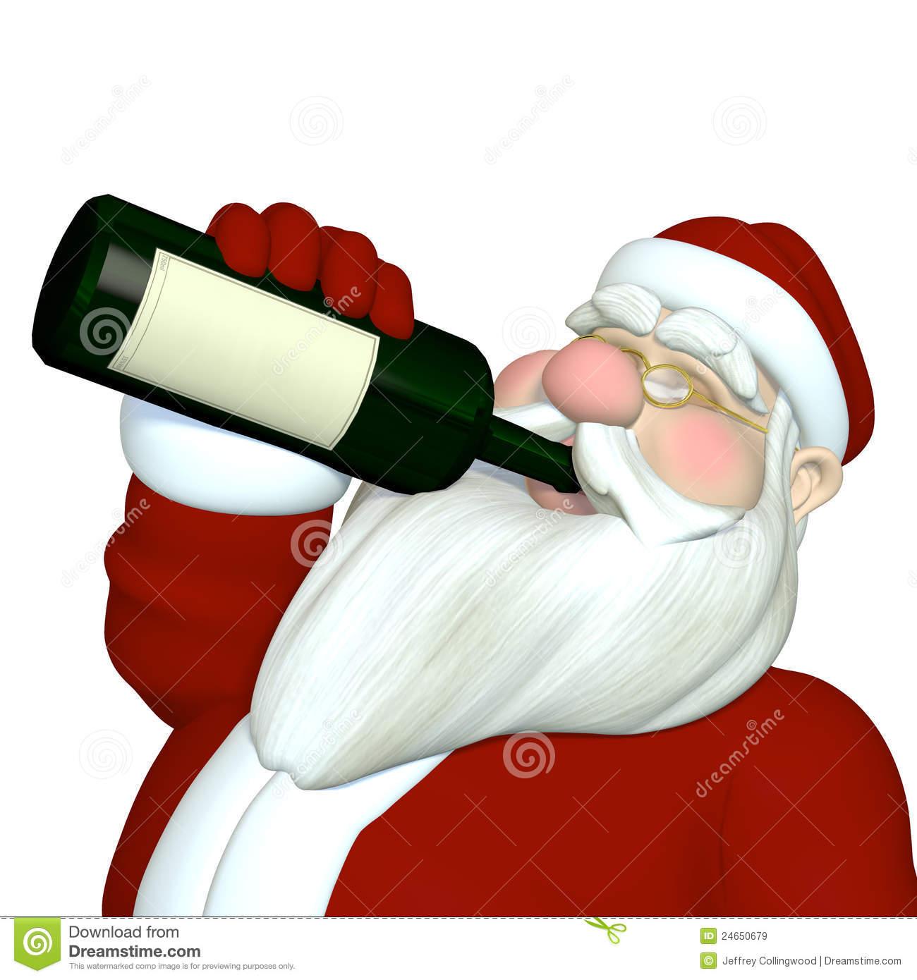 1300x1390 Santa Clipart Drinking