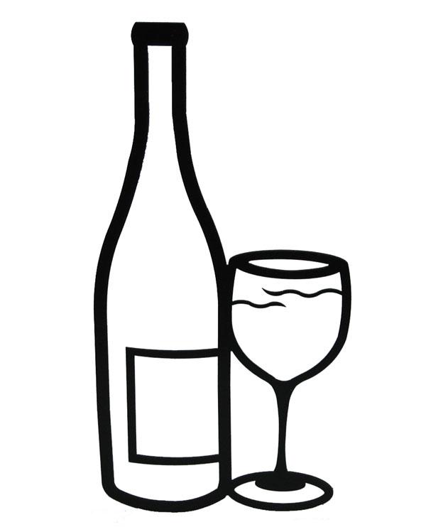 600x742 Wine Black And White Clip Art Wine Black And White Clipart Photo 2