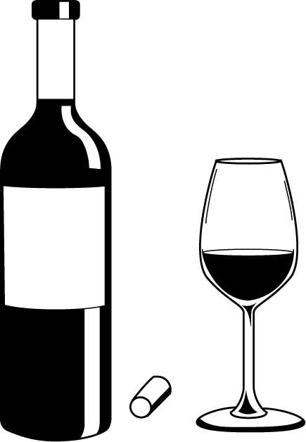 435x628 Wine Bottle Clip Art Black And White Wine Clipart Kid