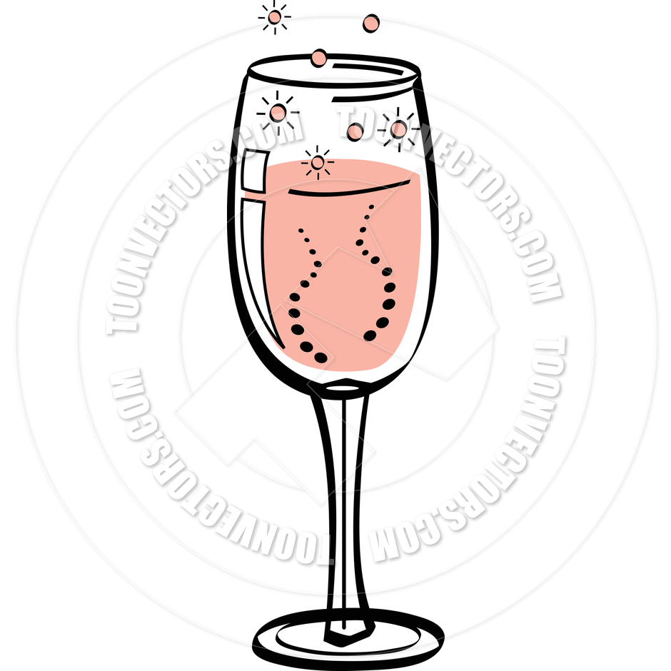 940x940 Cartoon Champagne Flute Vector Illustration By Clip Art Guy Toon