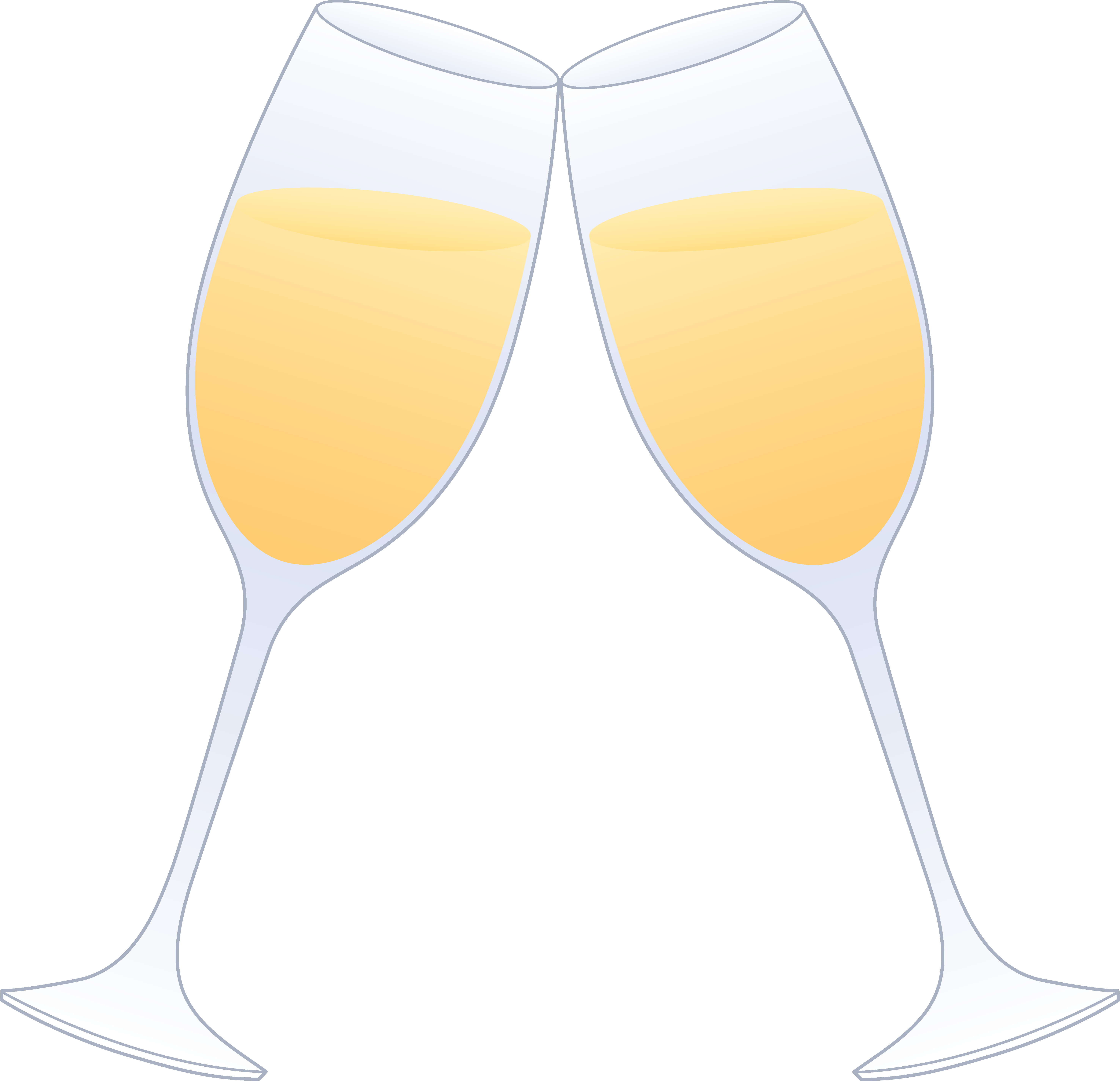 5905x5702 Champagne Glass Glasses Of Champagne Clinking Free Clip Art 2