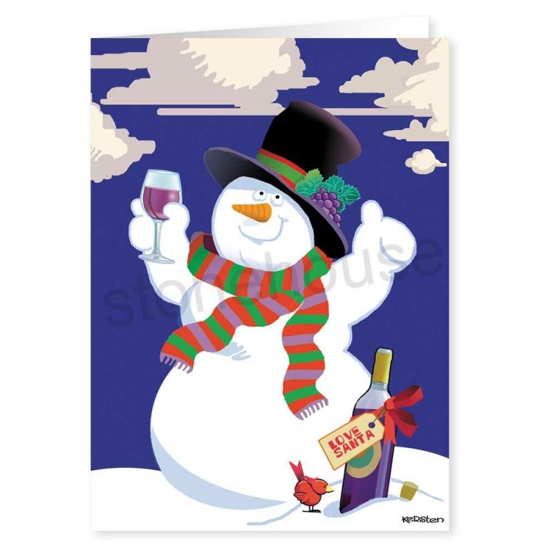 800x800 Wine Clipart Snowman