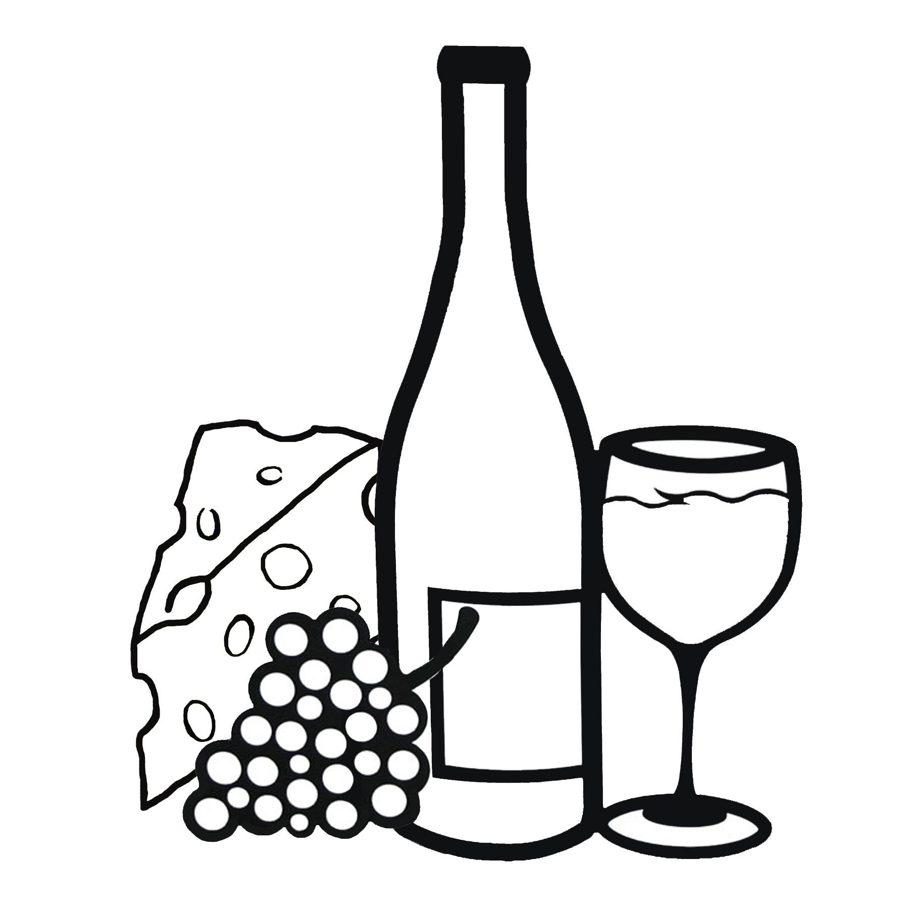 1800x1800 Clip Art Black And White Wine Clipart Kid