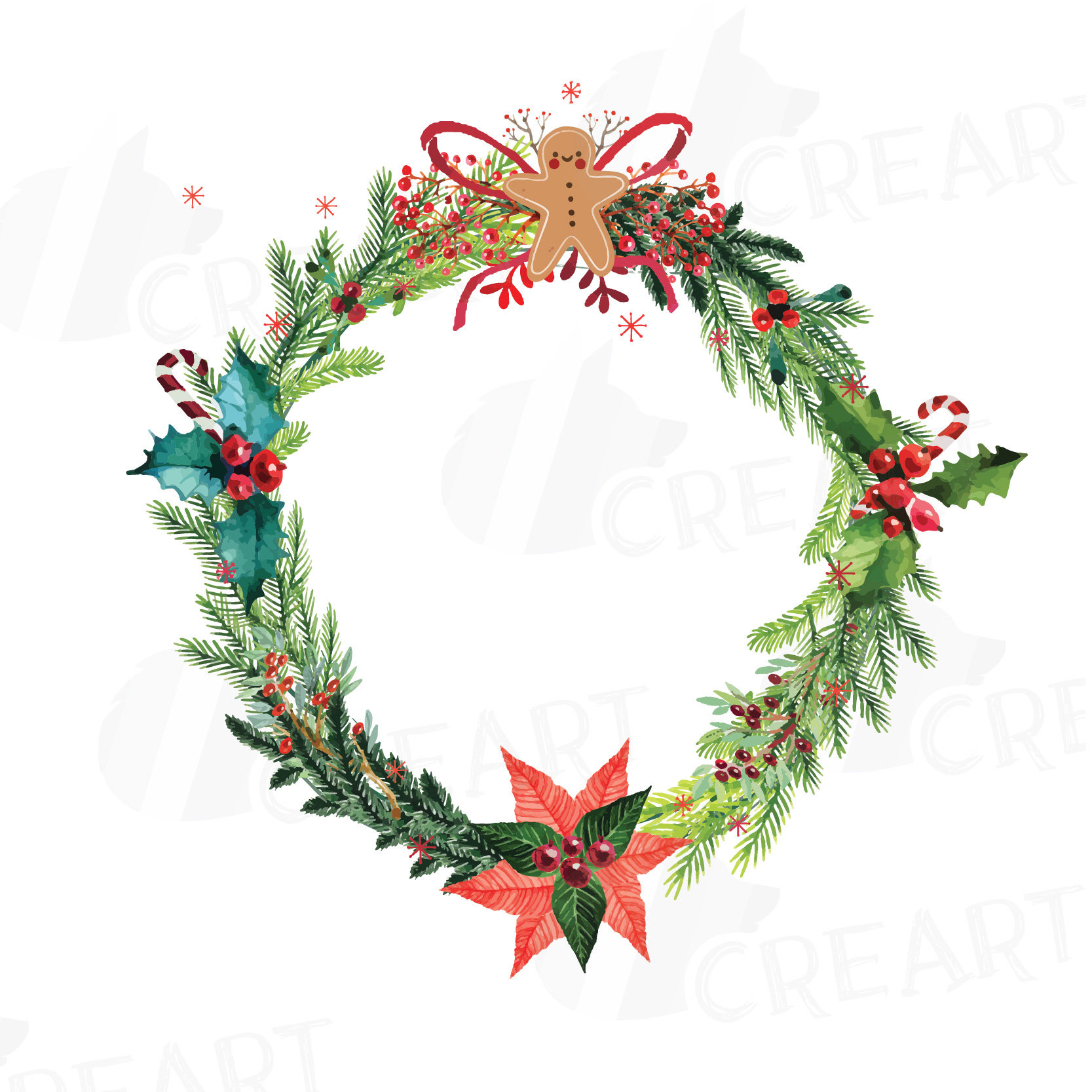 Christmas wreath thin. Holiday images free download