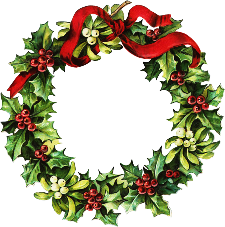 Holiday Wreaths Clipart Free Best