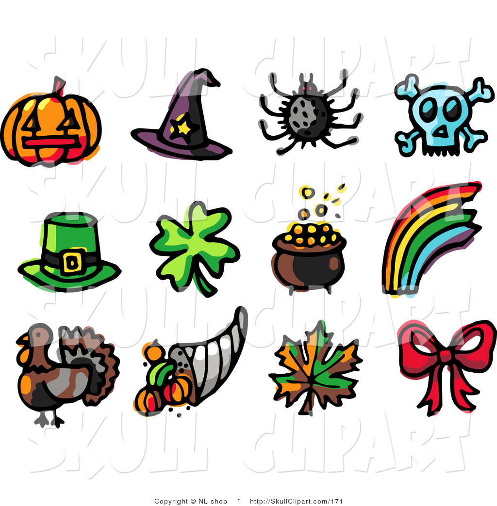 1024x1044 Vector Clip Art Of A Digital Collage Of Twelve Holiday Icons
