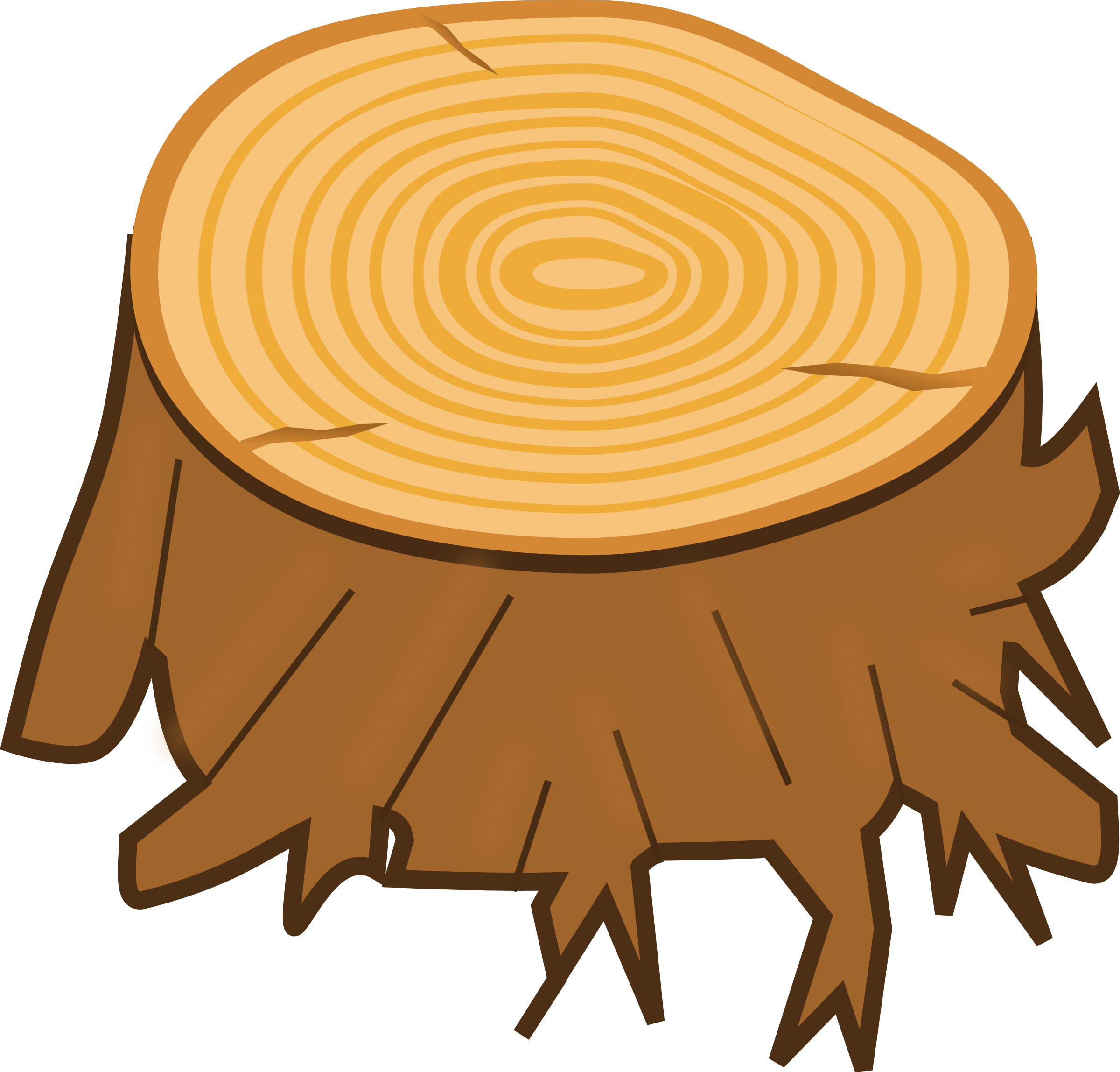 2400x2296 Timber Clipart Tree Log