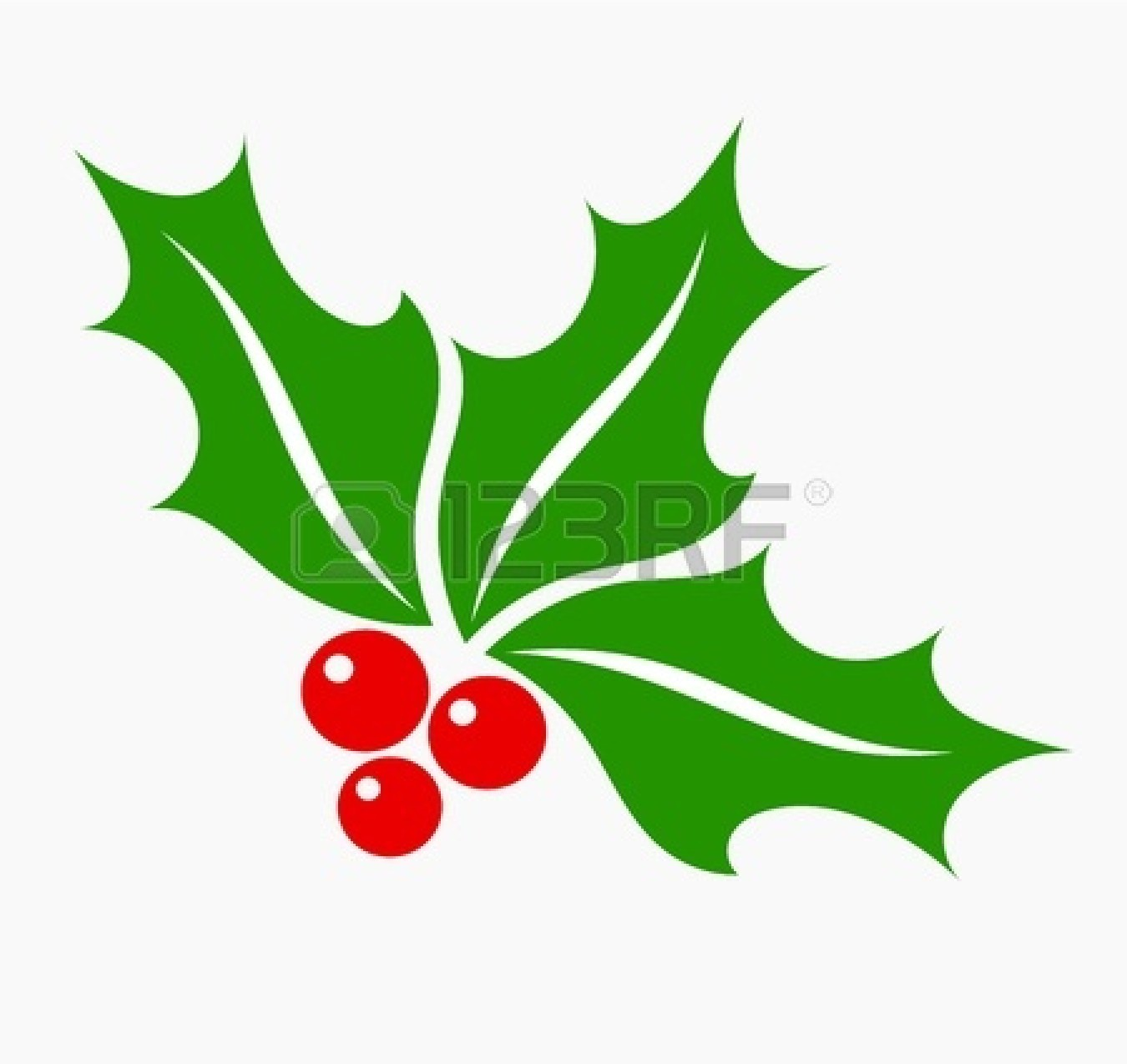 1350x1275 Free Christmas Holly Berry Clipart