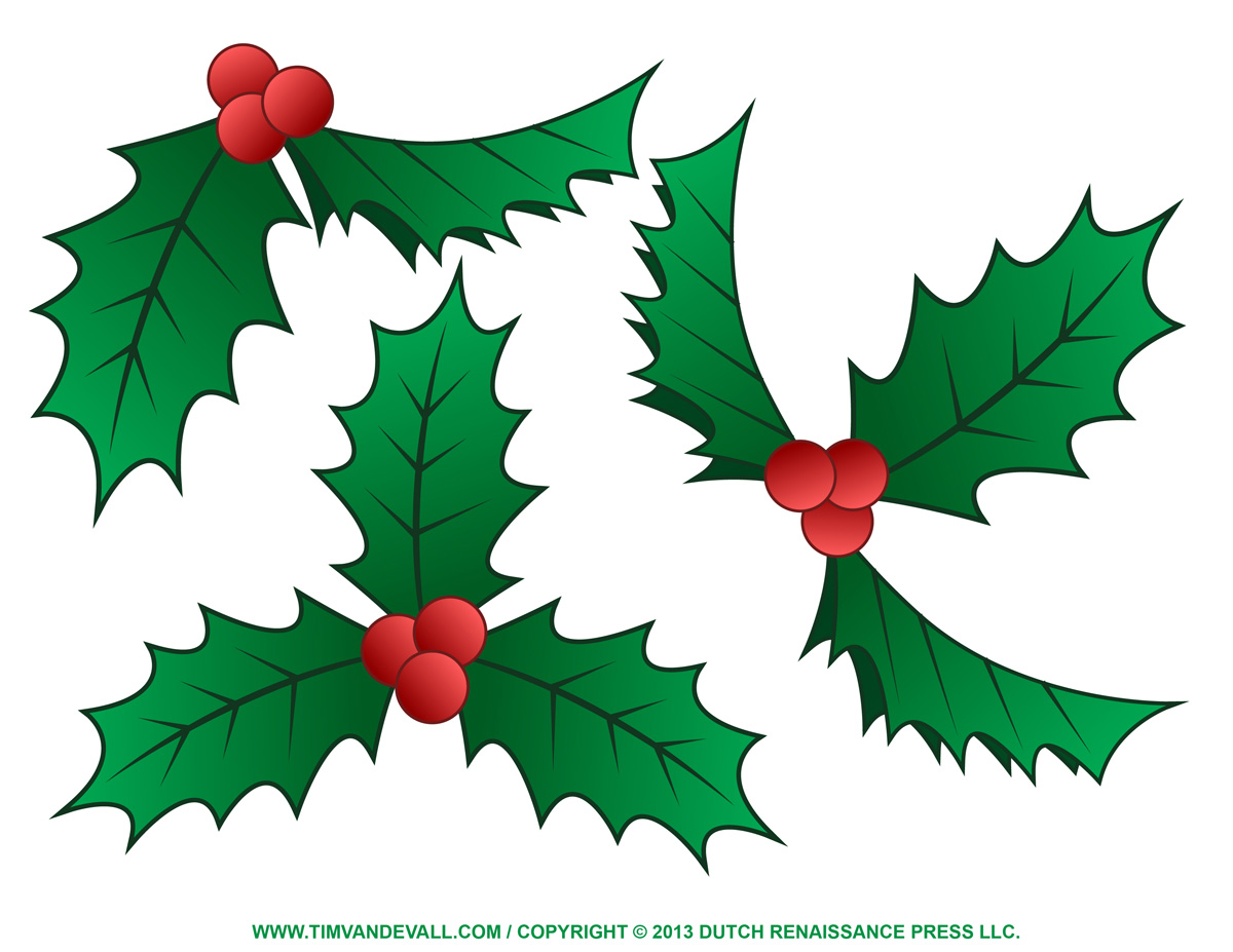 1200x927 Free Holly Clip Art, Border And Christmas Decoration Images