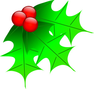 300x284 Holly Berry Clipart