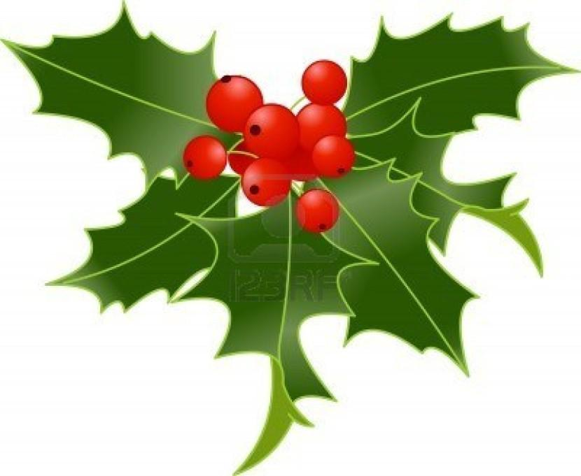 830x681 Holly Branches Clip Art