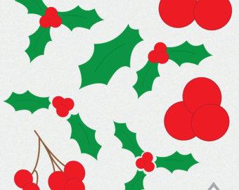 340x270 Holly Clip Art Etsy