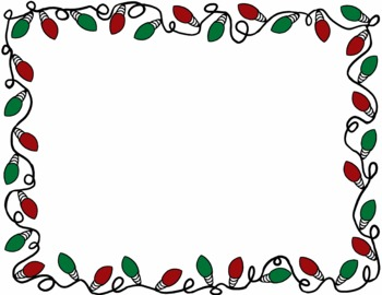 350x270 Christmas Lights Clipart Boarder