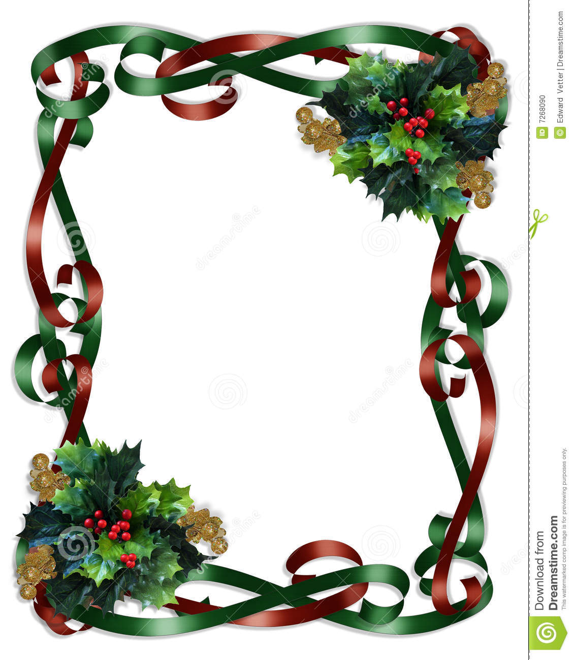 1130x1300 Christmas Ornament Border Clipart