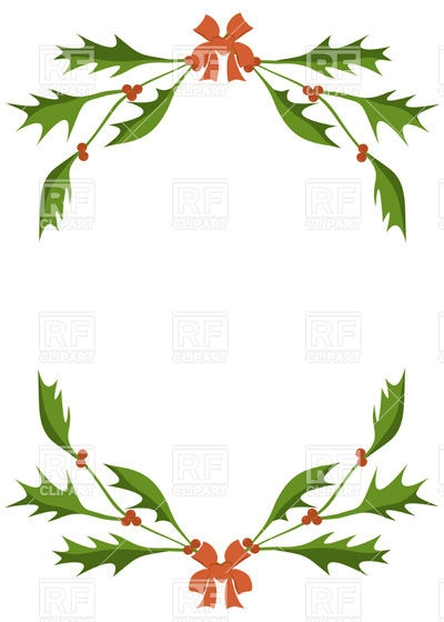 400x560 Free Christmas Clip Art Holly Berries