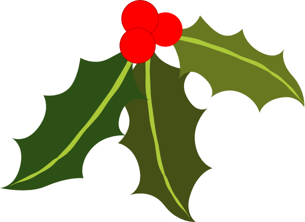 600x437 Holly Leaf Clip Art