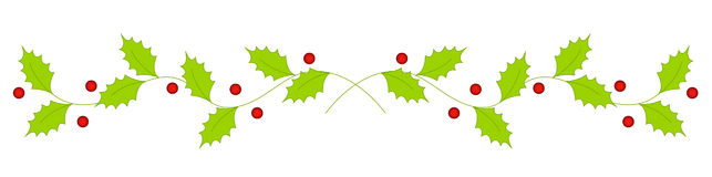 643x160 Line Clipart Holly