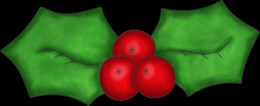 877x359 Christmas Holly Clip Art 2