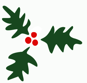302x290 Free Christmas Clip Art Holly Free Clipart Images 8