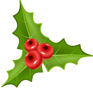 298x282 Holly With Berries Clip Art