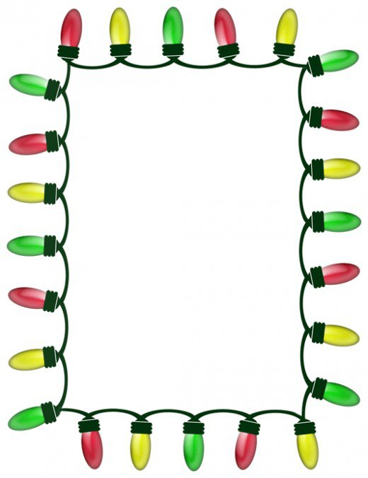 520x676 Free Christmas Wreath Border Clip Art
