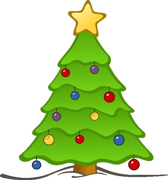 558x599 Free Christmas Tree Clip Art Borders Free