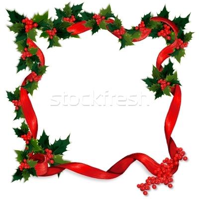 400x400 Christmas Clip Art Borders Holly