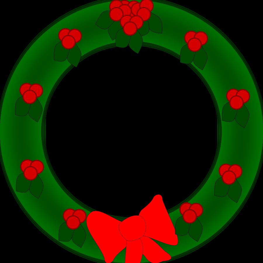 900x900 Free Christmas Wreath Border Clip Art