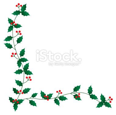 380x377 Free Christmas Holly Clip Art Border Clipart