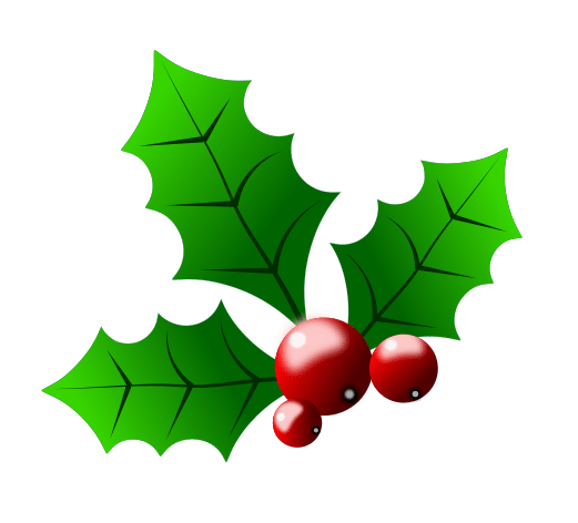 521x472 Free Christmas Holly Clip Art Merry Christmas And Happy New Year