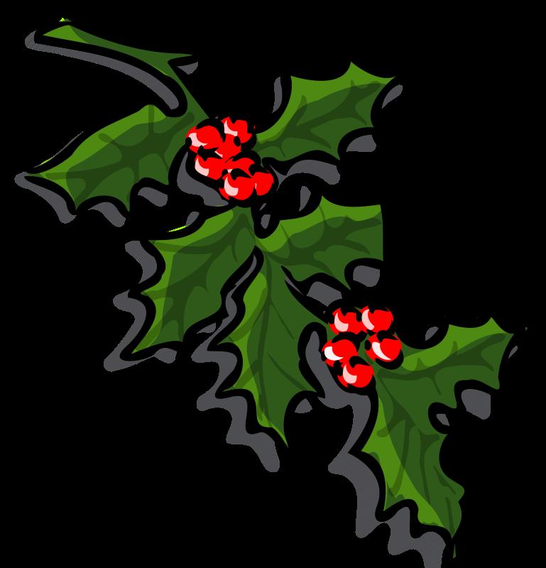 769x800 Free Holly Branch Clip Art