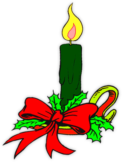396x522 Candle Clipart Holly