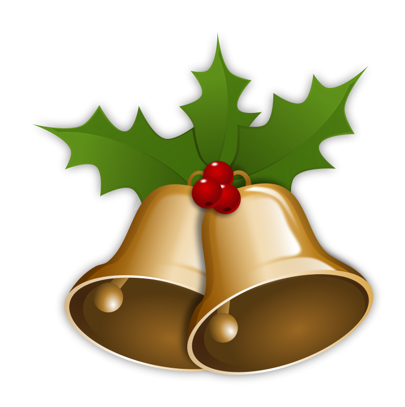 796x800 Christmas Bells Clip Art