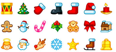 390x176 Christmas Clipart Collection