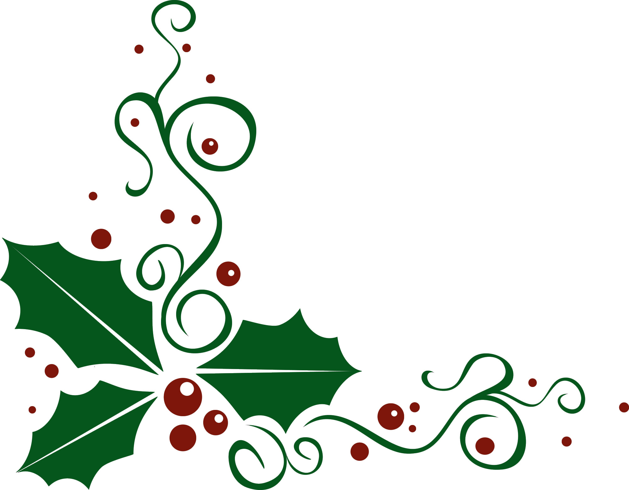 2000x1560 Christmas Holly Clip Art 4
