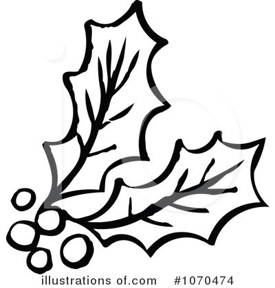 400x420 Line Clipart Holly