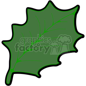 300x300 Royalty Free Green American Holly Leaf 387363 Vector Clip Art