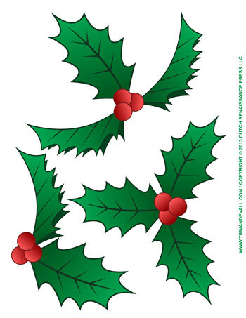 350x453 Christmas Holly Clip Art